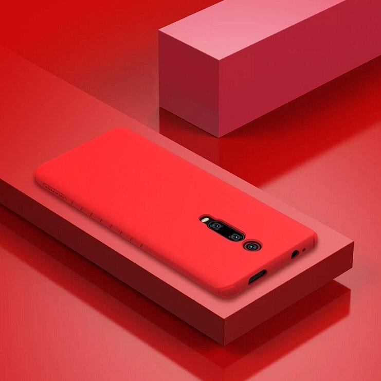 NILLKIN For xiaomi redmi k20 pro case cover Silicone Smooth Protective Back Cover for xiaomi mi 9t mi 9t pro redmi k20 case 6.39 - Цвет: Red