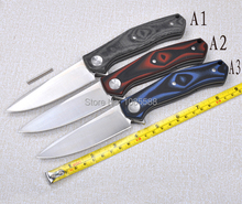 High Quality D2 blade TC4 titanium alloy + G10 handle folding knife utility tactical survival knives outdoor camping tools