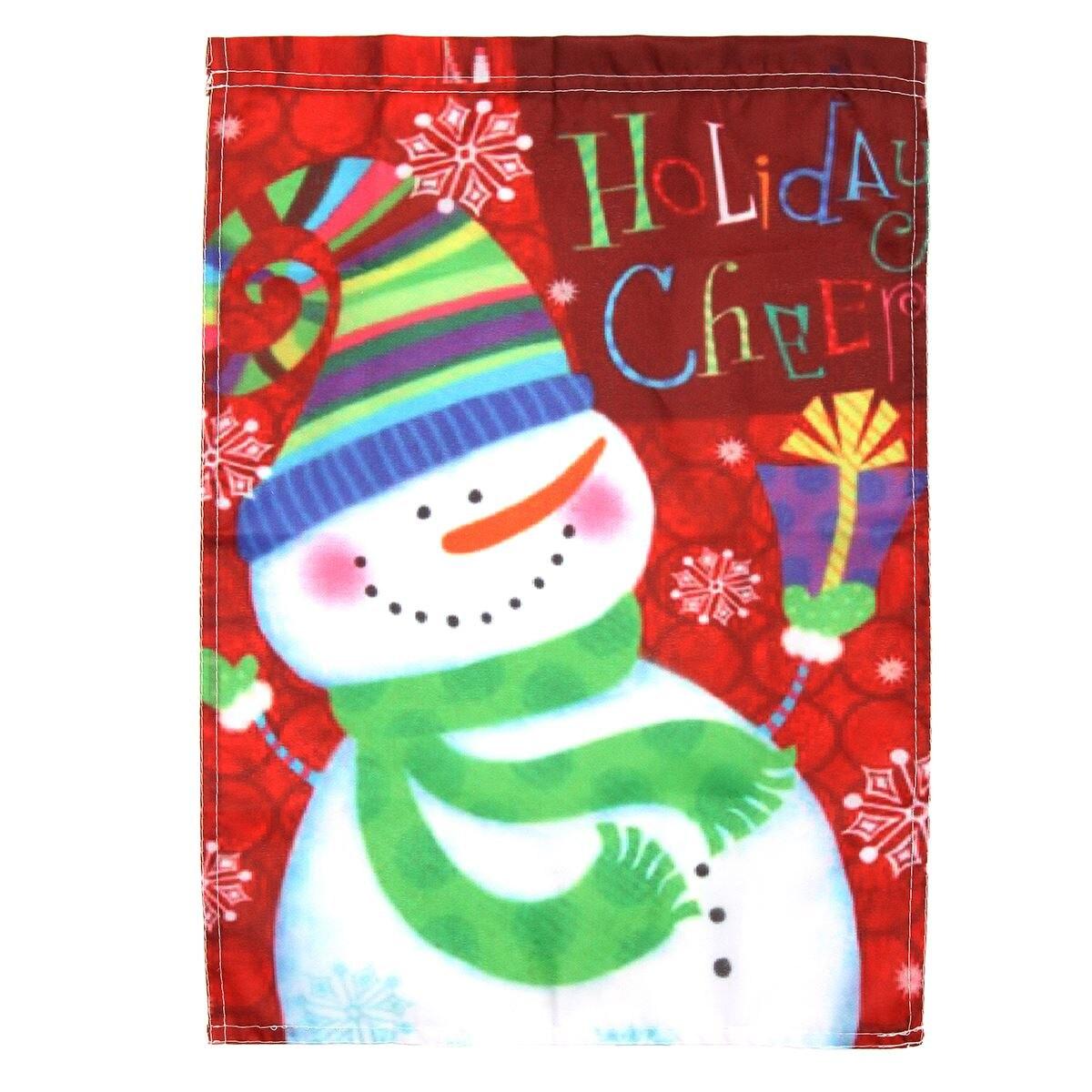 Winter Garden Flags Part - 49: Garden Flag Snowman Carrot Nose Holiday Cheer Winter Christmas Gifts 18u0027u0027x  13u0027