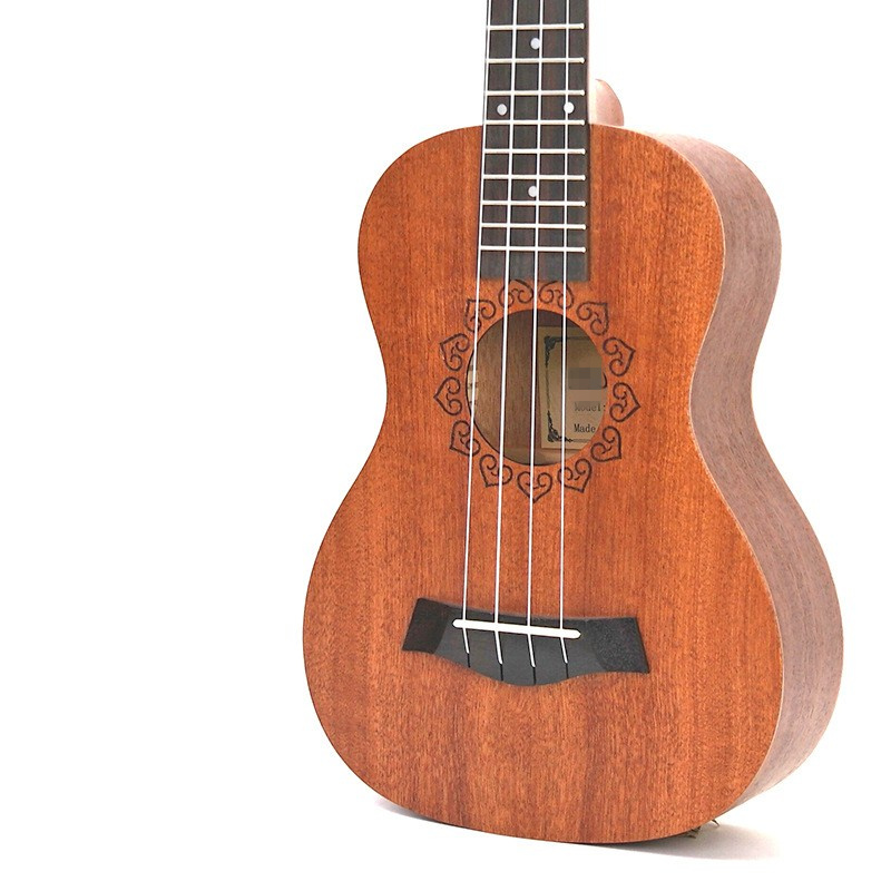 Afanti Music 23 inch small Guitar / Sapele / 23 inch Ukulele (DGA-138) zebra professional 24 inch sapele black concert ukulele with rosewood fingerboard for beginner 4 stringed ukulele instrument