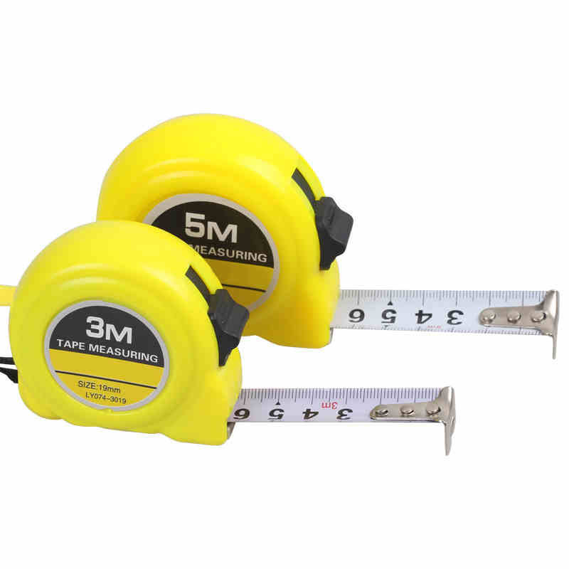 5m19mm steel tape measures metric measuring tapes with hand strap belt clip thumb lock