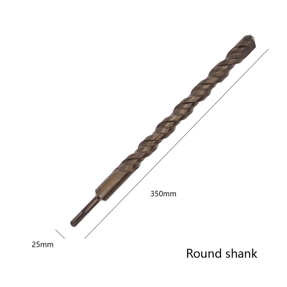 25*350mm Round Shank Hammer Twist Drill Bit For Metal 40CR chrome-vanadium Steel Drilling Woodworking Tool High Quality 46pcs 1 4 inch high quality socket set car repair tool ratchet set torque wrench combination bit a set of keys chrome vanadium