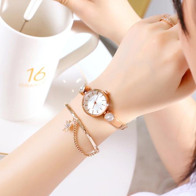 2018 Luxury Original KIMIO Korean Women Creative Diamond Ceramic Bracelet Watch