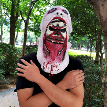 HOT SALE Melting Face Latex Adult Bloody Zombie Mask Halloween Scary Cosplay Prop Costume 1