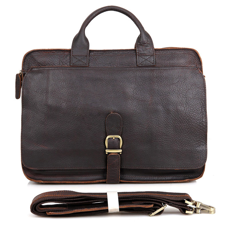 2016 Sale Rushed Totes Vintage Crazy Horse Genuine Leather Bags Large Capacity Men's Shoulder Cowhide Male 15 Inch Laptop Bag 2016 rushed sale fashion