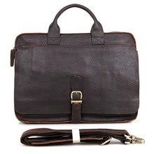 2016 Sale Rushed Totes Vintage Crazy Horse Genuine Leather Bags Large Capacity Men's Shoulder Cowhide Male 15 Inch Laptop Bag