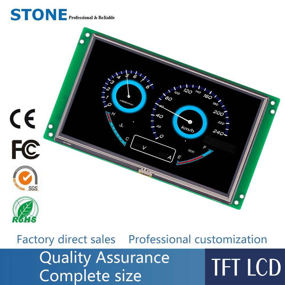 7,0 дюймовый Интеллектуальный TFT дисплей сенсорный модуль + контроллер + Драйвер + UART порт + программа