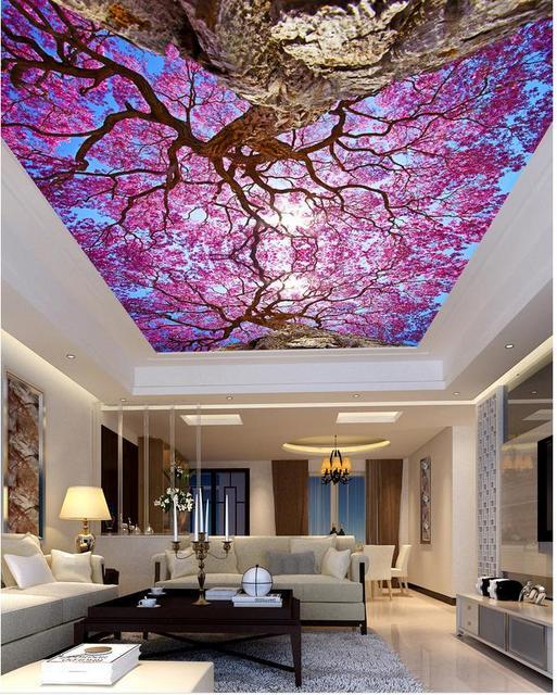 Plafond woonkamer slaapkamer plafondschilderingen 3d kamer behang ...