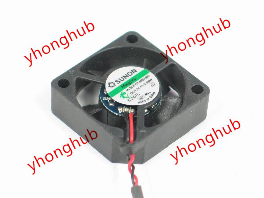 SUNON MC30101V1-000U-A99 Server Cooling Fan DC 12V 0.58W 30x30x10mm 2-wire free shipping original sunon 4020 12v 0 7w gm1204pkv2 a ultra quiet 2 wire cooling fan