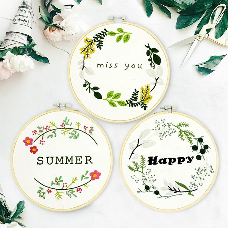 Europa DIY flor bordado impreso para principiantes costura patrones ...