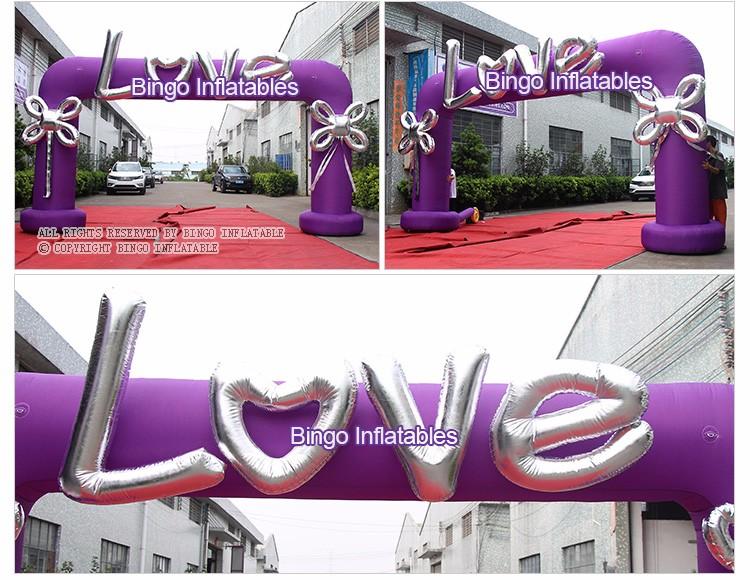 BINGO inflatable wedding arch (3)