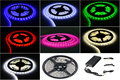 Colored lights Christmas, 5050 300LED 5M Flexible Lamp Light Strip with 5A Power Supply for Home  Garden Car Light