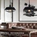 Современный американский кантри дизайн подвесной светильник креативный лрон светодиодная Подвесная лампа столовая кафе комната бар лампа...