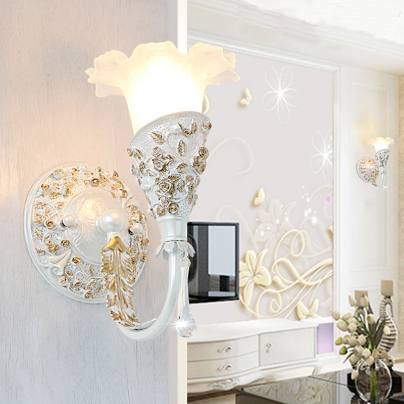 Vintage Mediterranean Sea style wall lamp Living room background lamp bathroom mirror front light bedroom study led wall sconce