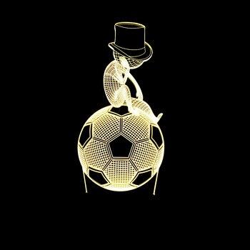 Fußball 3d Lampe Bunte Touch Ferngesteuert Led Visuelle Geschenk Tisch Lampe Fabrik großhandel 7 farbe ändern Deco Lampen