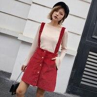 משלוח לימונים קורדרוי אדום מוצק גבוה מותן מיני חצאית גרבים ילדה מתוקה אונליין חצאיות גבירותיי חצאית סתיו חם למכירה V5322