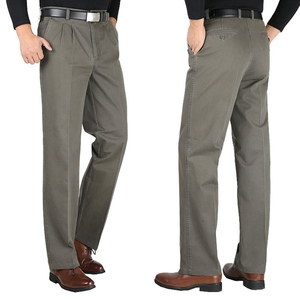 Image 5 - Kış sonbahar erkek pantolon polar sıcak 6XL 7XL 8XL 9XL 10XL büyük boy büyük boy elbise günlük giysi pantolon haki iş