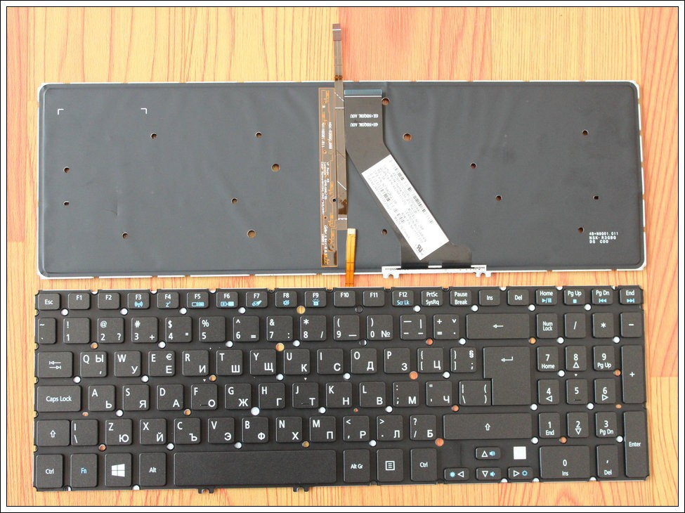 Bulgarian Laptop Keyboard For Acer Aspire VN7-571 VN7-571G VN7-591G V5-552 V5-552G V5-552P V5-552PG Backlight BG quying laptop lcd screen for acer aspire v5 573pg v5 561 v5 561g v3 572 v3 572g vn7 591g es1 520 series 15 6 1366x768 30pin