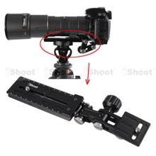 Телефото зум-объектив кронштейн LongFocus объектив Поддержка Держатель+ 12 см камера быстросъемная пластина для шаровой головки штатива крепление кольцо-хорошее