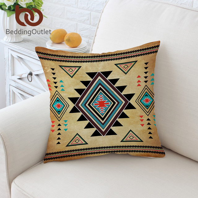 BeddingOutlet Geometric Cushion Cover Aztec Pillowcase Southwest Native American Throw Cover Sofa Bed Decorative Pillow Cover
