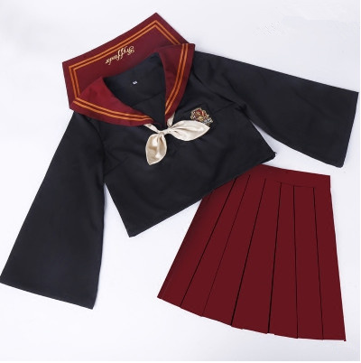 2020 New Plus Size JK Japanese School Sailor Uniform Fashion School Class Red Suit Girl Student School Uniforms For Cosplay