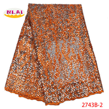 Sequin Organza Lace Newest, Embroidery New African Lace, Wedding Dresses Lace Materisal Mr2743b