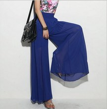 Skirt High Chiffon Blue