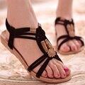 Женская Обувь Сандалии Комфорт Сандалии Лето Вьетнамки 2017 Мода Высокого Качества Плоские Сандалии Гладиатор Sandalias Mujer Белый