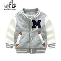 Retail 2 8 Years Cotton Baseball Clothing Casual Jacket Boy Spring Fall Autumn