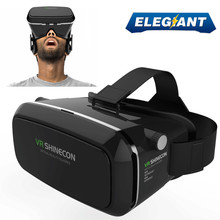 "ELEGIANT Virtual Reality 360 HD Viewing Immersive 3D VR Glasses Google Cardboard Video Game Headset 3.5-6.0"" for iPhone Android"