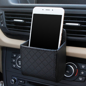 Car Outlet Air Vent Storage Box Organizer Bag For Ford Focus 2 3 Fiesta Mondeo Kuga Citroen C4 C5 C3 Skoda Octavia Rapid Fabia image
