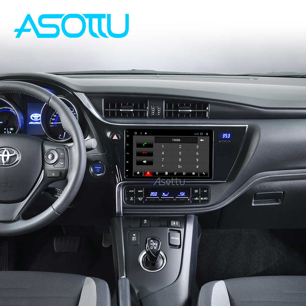 Asottu CXKLL179060 Reproductor de DVD Del Coche para Toyota Corolla Auris vios Fortuner Estima Innova 2016 2017 2018 de navegación gps del coche jugador