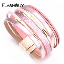 Flashbuy Fashion Hollow Casing Bracelet For Women Men Multiple Layers Charm Trendy Wrap Classic Female Jewelry