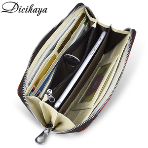 Image 4 - DICIHAYA carteras largas de piel con estampado para mujer, monedero, monedero, bolsos de estudiantes, billetera con sostenedor de tarjetas