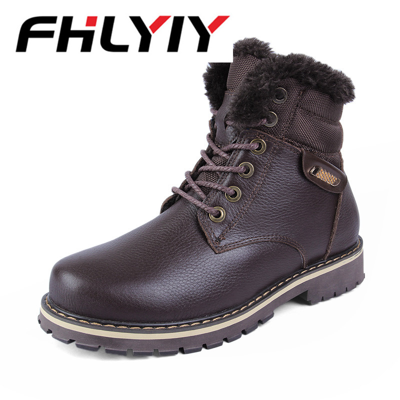 Men's Winter Boots Male Snow Ankle Boots Fashion Warm Fur Casual Boot Shoes Short Plush Men Boot Chaussure Homme Size 38-50