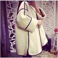 Шерстяной зимнее пальто кашемир сгущаться дамы небольшой ароматный ветер три четверти участки шерстяной плащ пальто женщин MS696