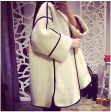 Woolen winter coat cashmere thicken ladies small fragrant wind three quarter sleeve long sections woolen cape coat female MS696