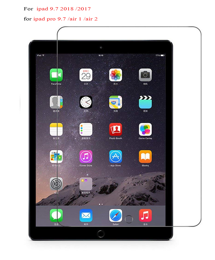 9H Tempered Glass For Apple New iPad 2018 A1893 9.7 inch Screen Protector Film Hard Cover For iPad 9.7 2017 A1822 Tempered Glass new 9h glass tempered for huawei mediapad t5 10 tempered glass screen film for huawei mediapad t5 10 inch tablet screen film