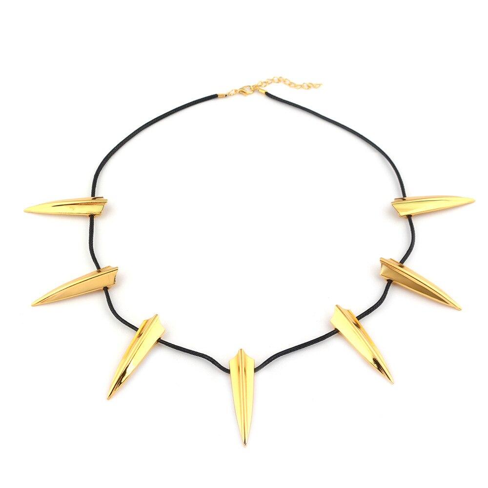 Black Panther Cosplay Necklace Golden Teeth Pendant Kid Halloween Christams Birthday Gift Halloween Cosplay Accessories