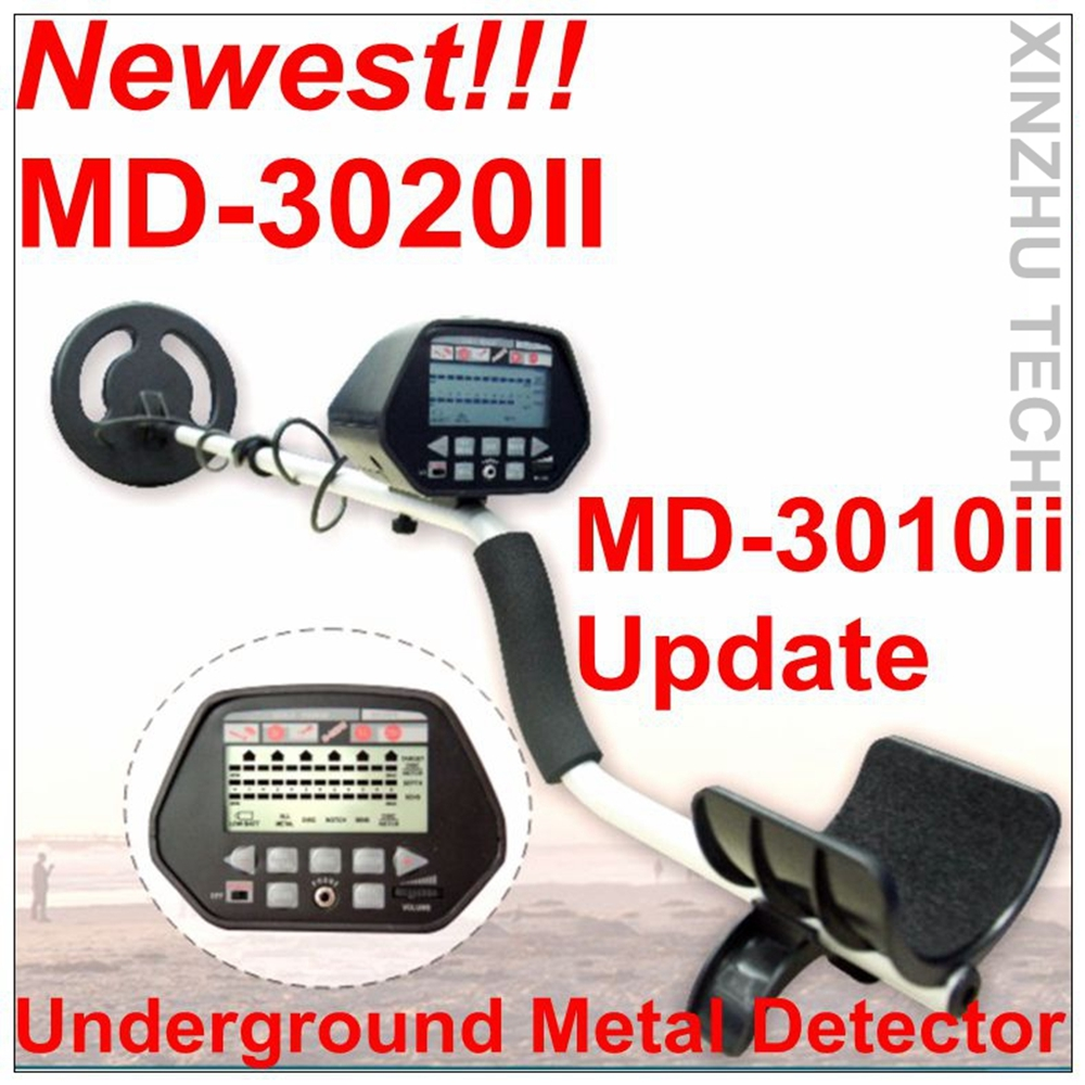 MD-3020II Metal Detector Professional Underground Gold Detector MD3020II Treasure Hunter With One Year Warranty md 6350 underground metal detector gold detectors md6350 treasure hunter detector circuit metales