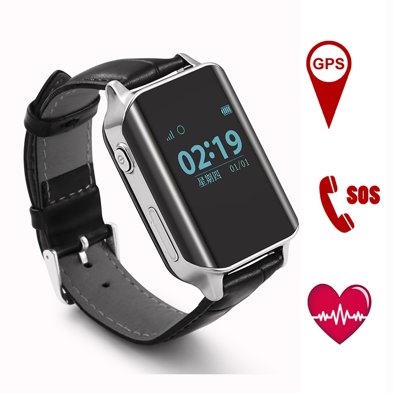A16 GPS Tracking Watch Aîné Étanche Fitness Tracker Smartwatch SOS Call Lieu Finder Anti-perdu Bande Présente pour Les Parents