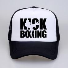 09f52edb summer Men Women Kick Boxinger MMA Baseball Cap High Quality print letter  Cool Summer Baseball Mesh