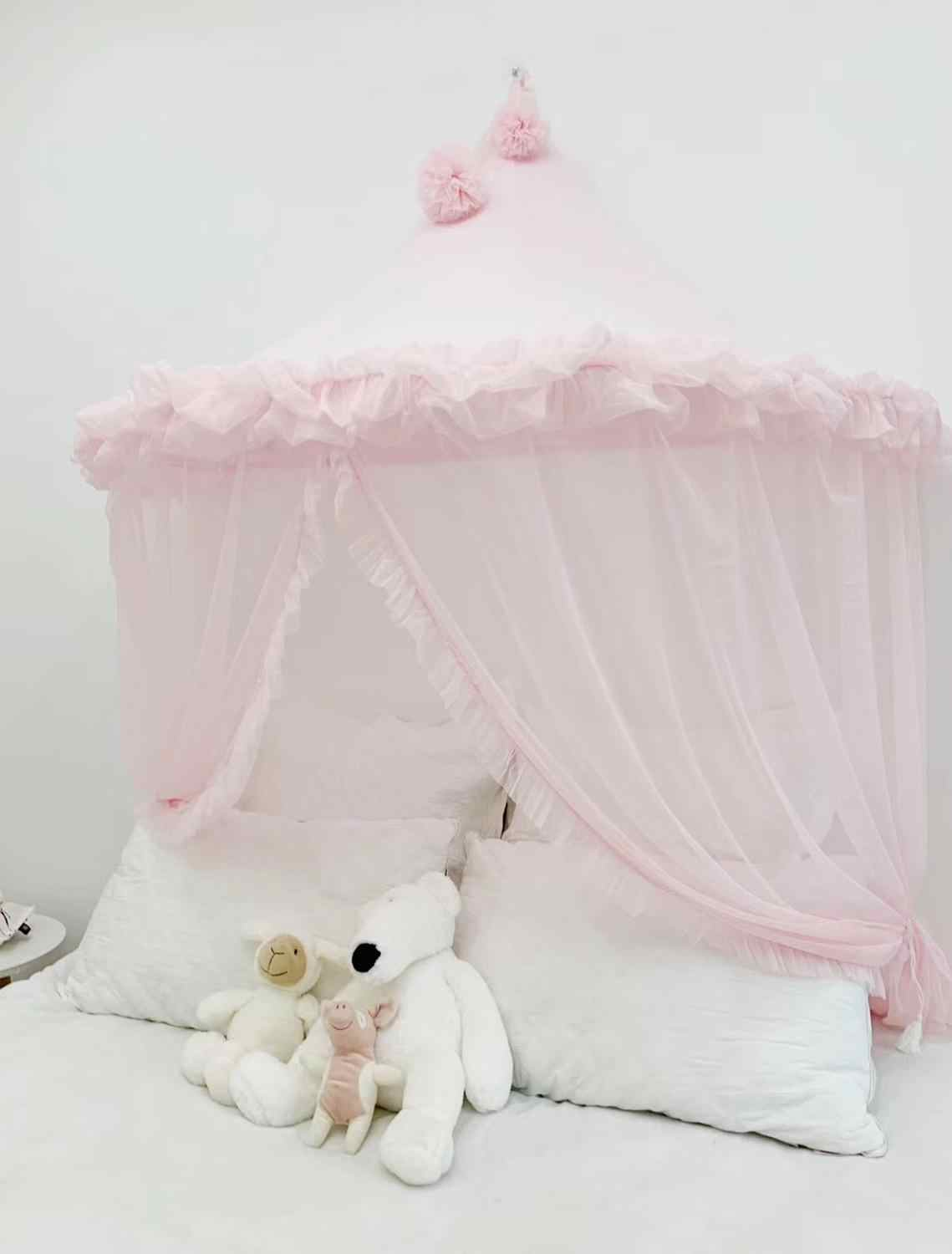 - Kids Play Tents Indoor Princess Bed Canopy Mosquito Net Pink Baby