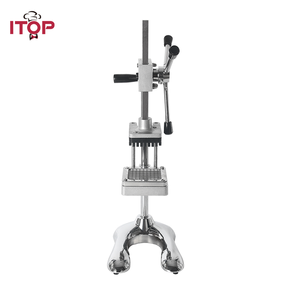 ITOP Vertical Potato Chip Carrot Shredding Machine Vegetable Fruit Cutter Slicer Manual French Fries Cutter Kitchen Tools