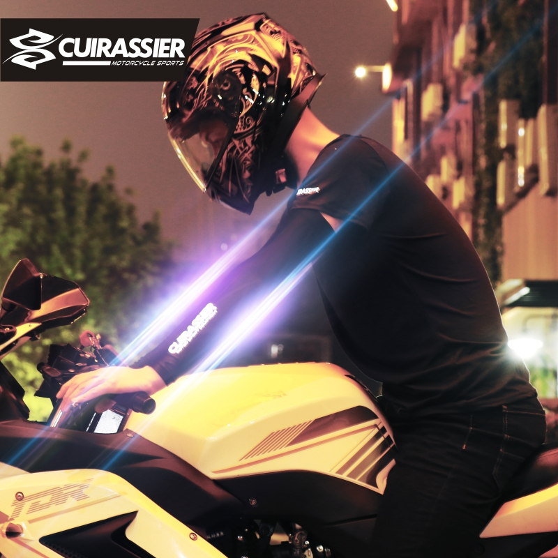 Cuirassier ST01 Cooling Reflective Durable Scratch-Resistant Sun Protection UV 400 Silicon Motorcycle Cooling Cover Arm Sleeve