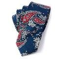 Mantieqingway Marca Moda hombre de Algodón Causal Floral Corbatas Lazos Estrechos Lazos para Hombre Flaco Corbata Del Novio de La Boda para hombres