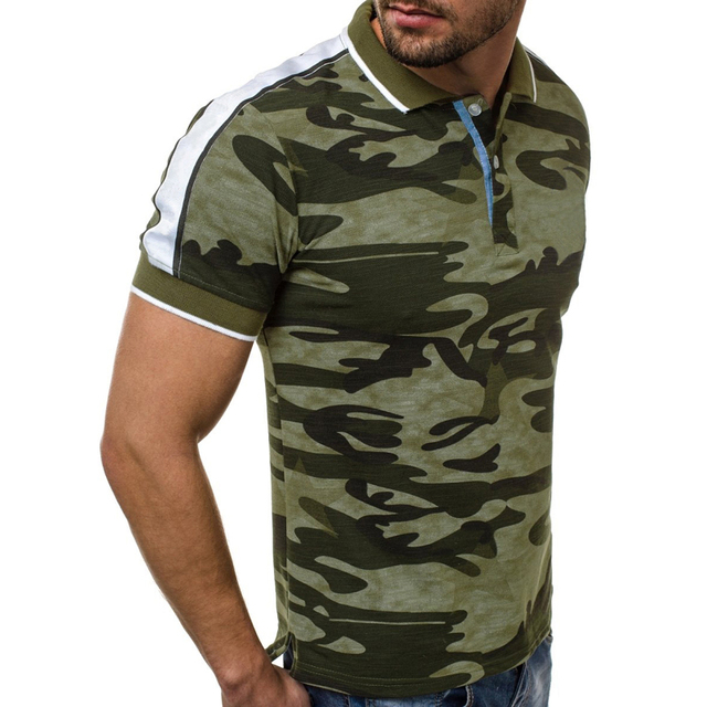 Casual Camouflage Men T...