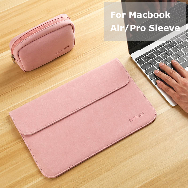 Ny Matte Laptop Väska till Macbook Air 13 12 Pro 13 Fodral Sleeve Women Men Vattentät Väska till Mac Book Touchbar 13 15 Case Cover