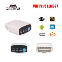 OBD 2 Wifi OBD2 ELM327 V1.5 Adaptador Wi Fi Wi-Fi Android iOS Código de Escáner Automotriz ELM 327 V 1.5 Auto Escaner Automotivo lector