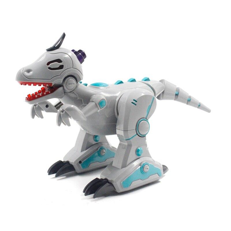 Jouets télécommandés Robots interactifs électriques dinosaures interactifs jouets marche pulvérisation incendie Velociraptor pour jeux enfants jouets
